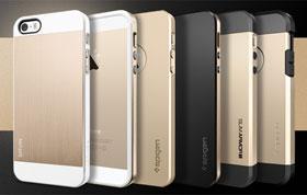 SPIGEN SGP iPhone 5/5sケース シャンパン・ゴールド