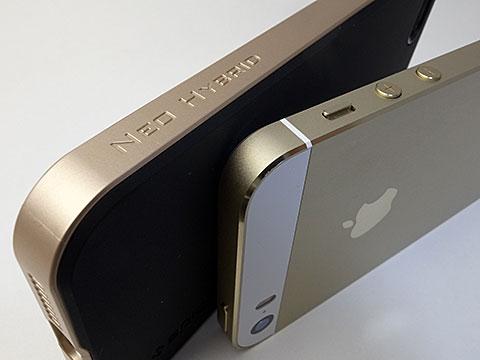 SPIGEN SGP iPhone 5/5s ケース ネオ・ハイブリッド シャンパン・ゴールド