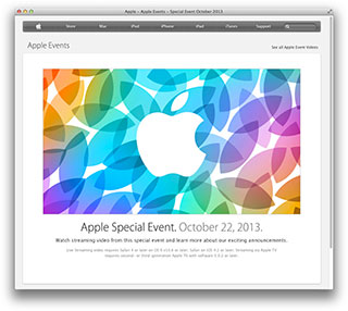 Apple - Apple Events - Special Event October 2013