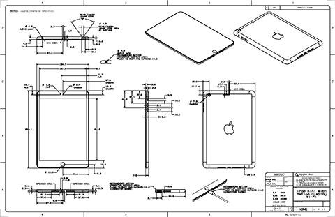 iPad Airの図面