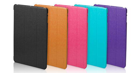 TUNEWEAR LeatherLook SHELL with Front cover for iPad Air