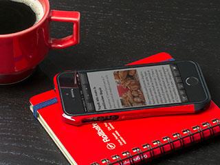 CLEAVE ALUMINUM BUMPER AERO for iPhone 5/5s ヨーロピアンレッド/ブラック