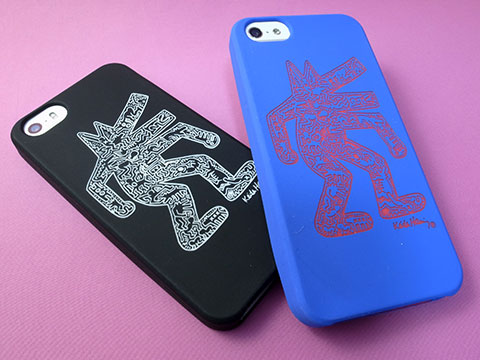 GRAPHT Keith Haring Collection Laser Engraved Silicone Case for iPhone 5/5s/5c