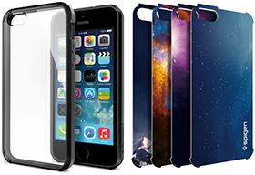 Spigen iPhone 5/5sケース ウルトラ・ハイブリッド[ブラック]+グラフィックシートセット