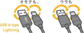ロジテック LHC-DUAL Lightning - USBケーブル