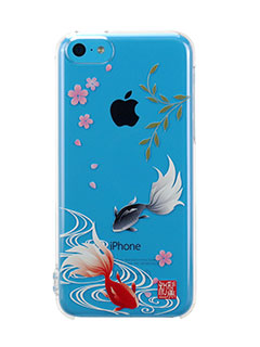 和彩美「ふるる」iPhone 5c用堅装飾カバー透