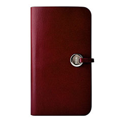 Leather Arc Wallet Claret (収納ポケット付き) : EVOUNI