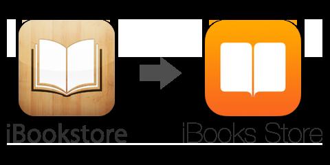 「iBookstore」が「iBooks Store」に