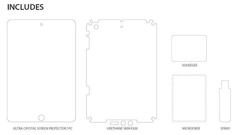 iPad mini Retina 全面保護フィルム Wi-Fi+Cellular インクレディブル シールド
