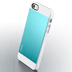 Spigen iPhone 5/5sケース サターン メタル・ミント