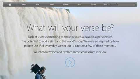 Apple - iPad - What will your verse be