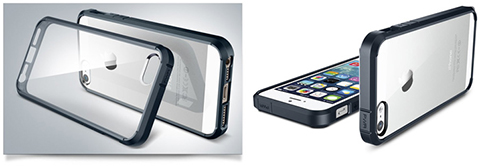 Spigen iPhone 5/5sケース ウルトラ・ハイブリッド ブラック/メタル・スレート