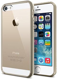 Spigen iPhone 5/5sケース ウルトラ・ハイブリッド シャンパン・ゴールド