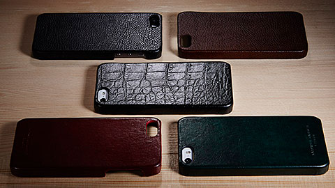 KATHARINE HAMNETT LONDON Leather Cover Set for iPhone 5s