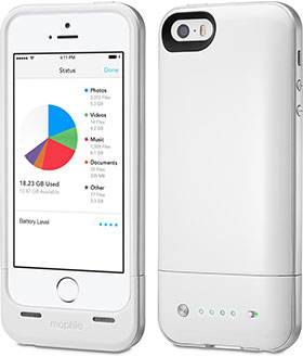 mophie space pack For iPhone 5s/5 Memory Storage Battery Case