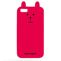 CRAFTHOLIC iPhone 5 / 5s シリコンケース DK.PINK RAB