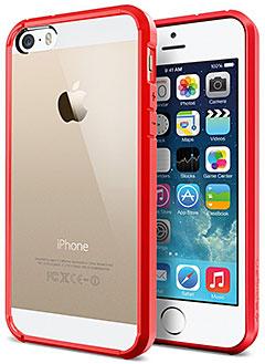 SPIGEN SGP iPhone 5/5sケース ウルトラ・ハイブリッド レッド