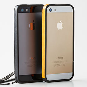 Simplism Leather Finish Bumper for iPhone 5s/5