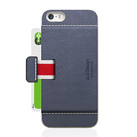 SLG Design iPhone 5/5s D6 Italian Minerva Box Leather Card Pocket Bar