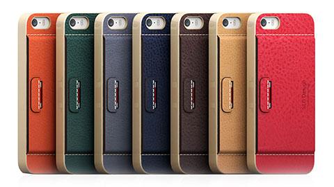 SLG Design iPhone 5/5s D6 Italian Minerva Box Leather Card Pocket Bar