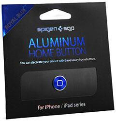 Spigen アルミニウム ホームボタン for iPhone & iPad 日本限定モデル ロイヤルブルー