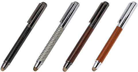 Deff Carbone/Wooden Touch Pen with Ballpoint Pen