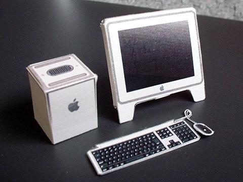 Power Mac G4 Cubeのペーパークラフト
