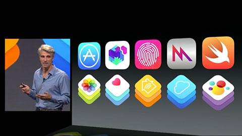 WWDC 2014 基調講演の一場面