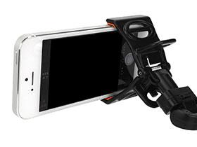 Clasp for smartphone ブラック×オレンジ