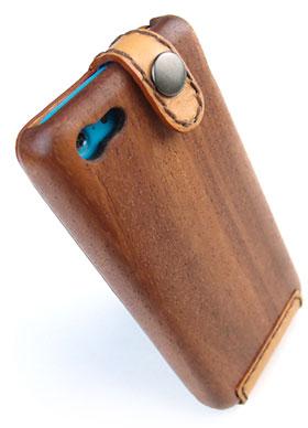 LIFE iPhone 5c専用 木と革のデザインケース