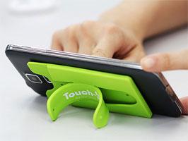 Touch-C ワンタッチ シリコンスタンド カードポケット付き