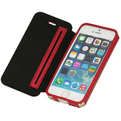 Deff GENUINE LEATHER & CARBON FIBER CASE for iPhone 5/5s