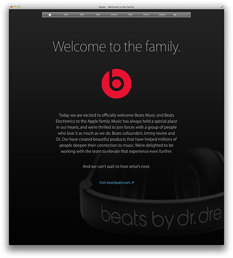 Apple - Welcome to the family