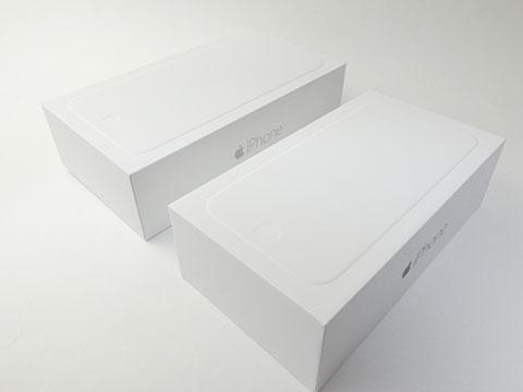 iPhone 6とiPhone 6 Plusのパッケージ