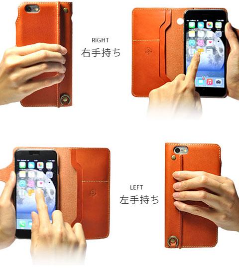 JACA JACA iPhone 6 Plus用手帳型レザーケース