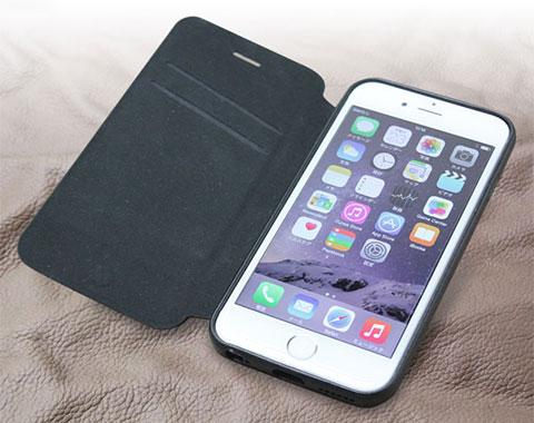 PU レザーケース スタンド機能付き for iPhone 6