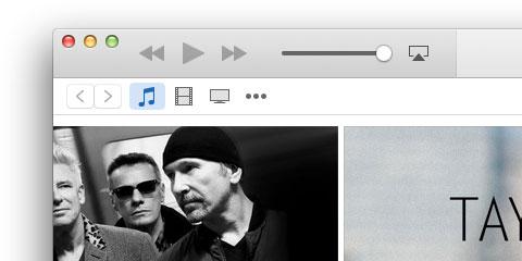 iTunes 12のウインドウ