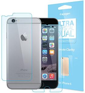 Spigen iPhone 6 Plus 保護フィルム シュタインハイル デュアル ウルトラ・クリスタル[前面・背面セット]