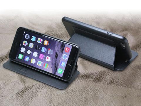 PU レザーケース スタンド機能付き for iPhone 6 Plus