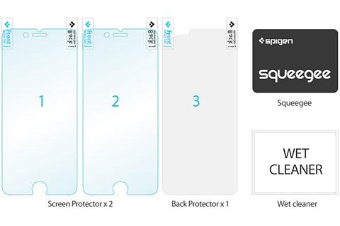 Spigen iPhone 6 保護フィルム シュタインハイル デュアル ウルトラ・クリスタル[前面・背面セット]