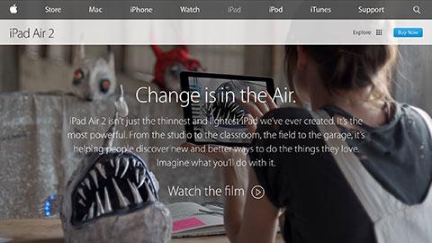 Apple - iPadAir2- Change is in the Air.