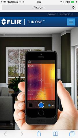 FLIR ONE 熱探知カメラ付きケース for iPhone 5/5s