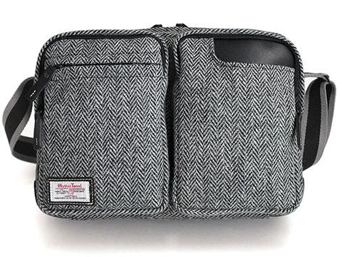 国立商店 タブレットのための小型ショルダーバッグ ハリスツイード別注モデル