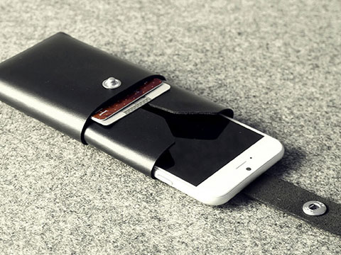 Charbonize レザー ウォレットタイプケース for iPhone 6/6 Plus(ブラック)