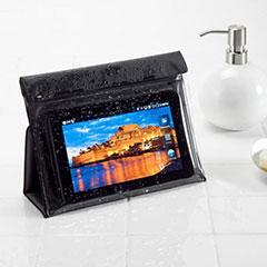 iPad mini防水ケース(7インチ対応・ブックタイプ・スタンド機能付)