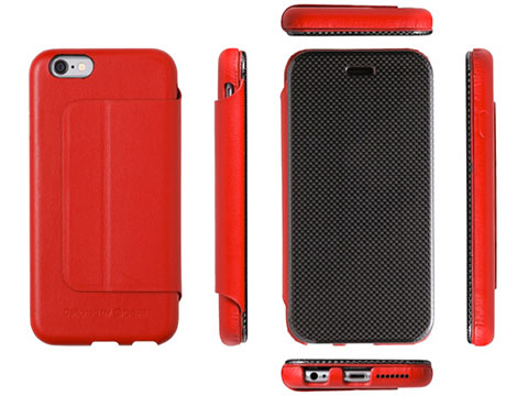Deff Carbon Fiber & Genuine Leather Case for iPhone 6