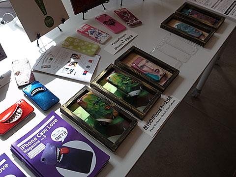 iPhoneケース展のブース