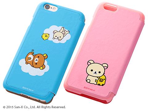 リラックマ・コリラックマ iPhone 6用・6 Plus用手帳型ケース