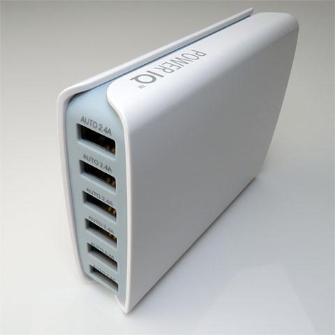 6ポート・POWER IQ System 搭載・急速充電器(PIQ500610WG)
