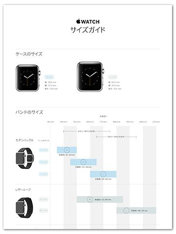 Apple Watch サイズガイド